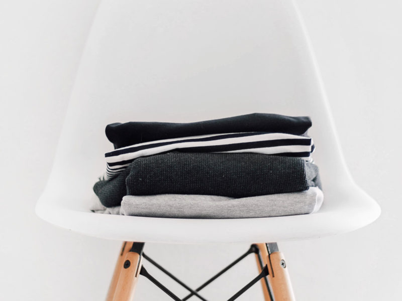 White Chair with Clothes